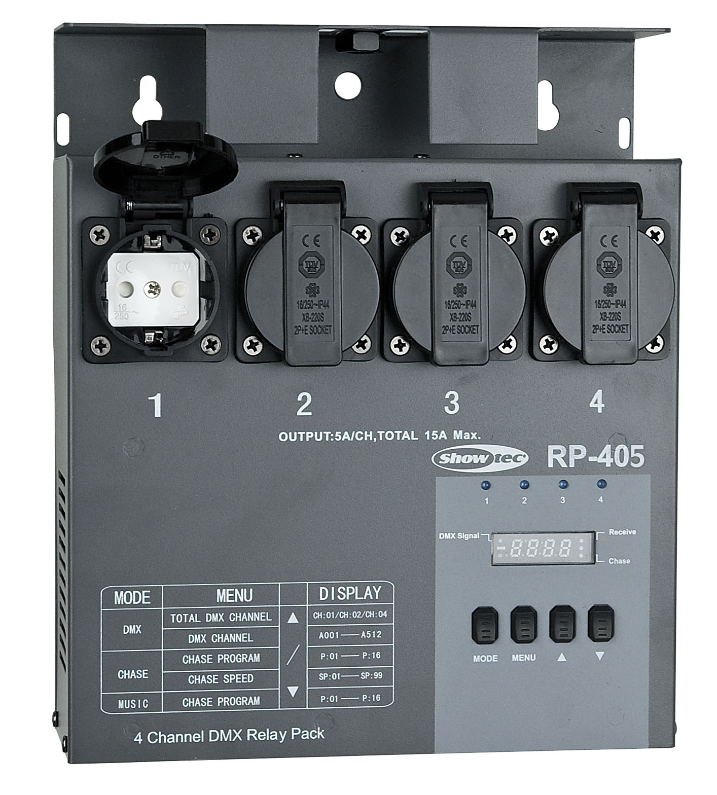 Showtec RP-405 Relay pack